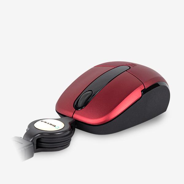 Mini Ratón Láser rojo cable extensible USB 50372